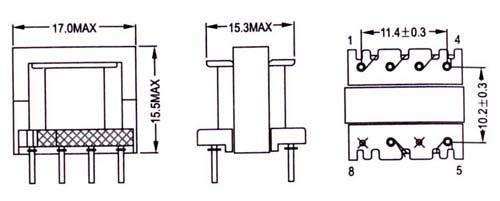 供应ee16型高频电变压器