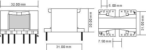 供应pq3220型高频变压器